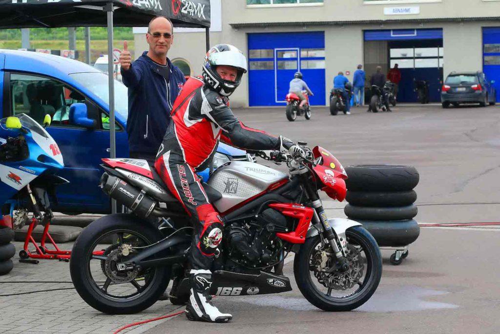 Motorradfahrer, Rennstrecke, Oschersleben